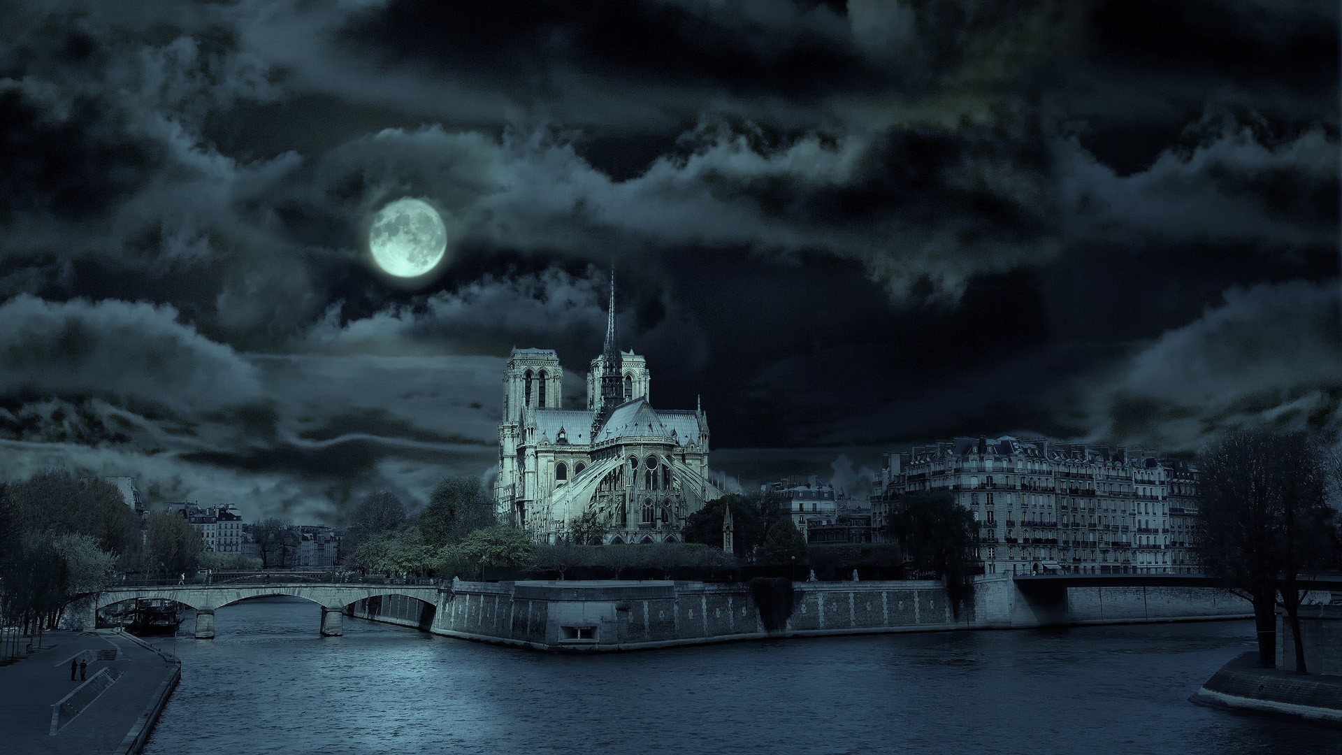 Paris Night Wallpaper 1920x1080 Paris Night France Notre Dame 1920x1080