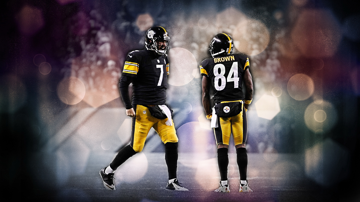Ben Roethlisberger Antonio Brown Wallpaper 1366x768