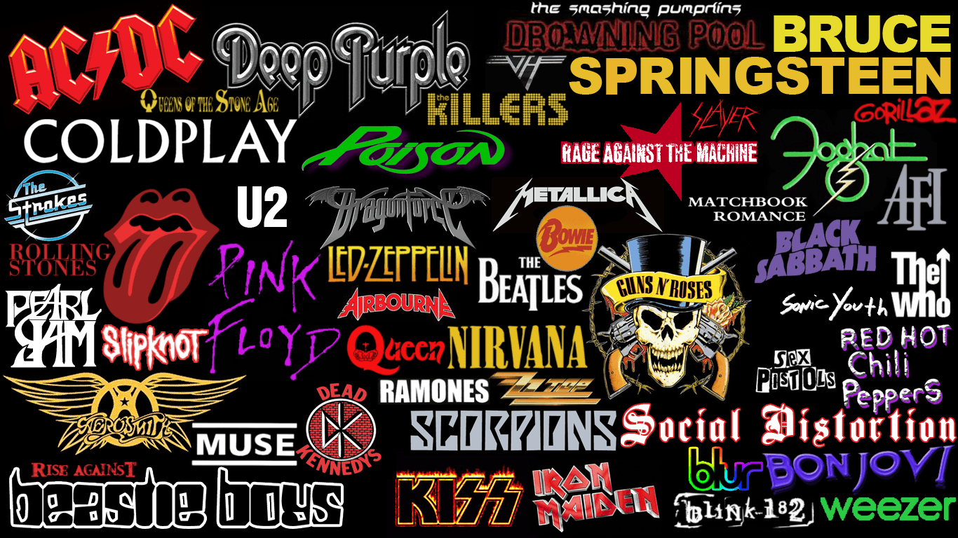 Rock Bands Wallpapers   Top Rock Bands Backgrounds 1366x768