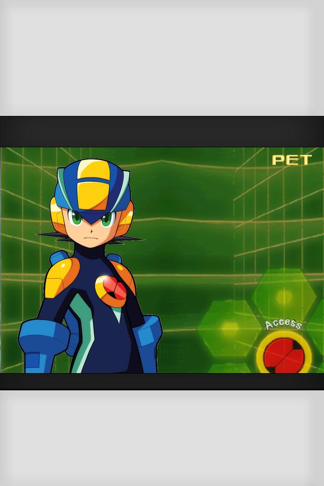 MegamanEXE PET On iPhone retina display   1test by iKiwed on 640x960
