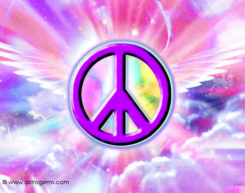 PEACE40 Big Peace symbol wallpaper 1000x786