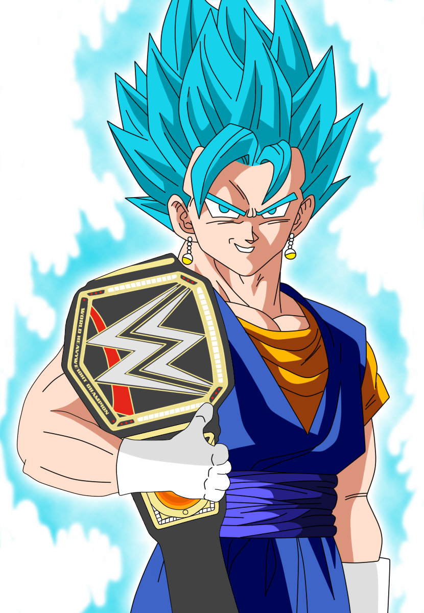 WWE World Heavyweight Champion Vegetto SSJGSSJ by gonzalossj3 on 830x1200