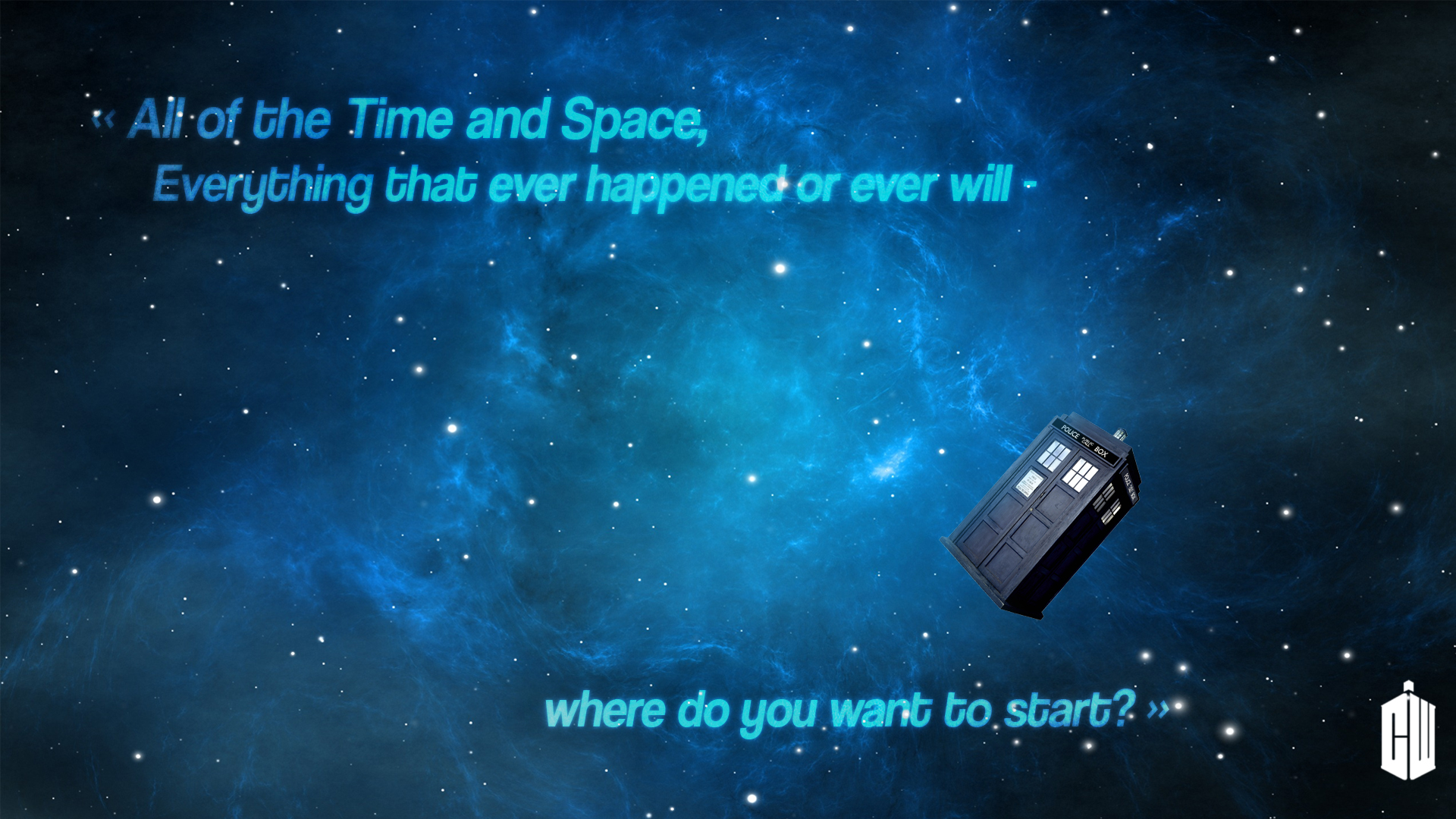 Doctor Who Wallpaper   All of the Time and Space by Darkounetlolz on 1920x1080