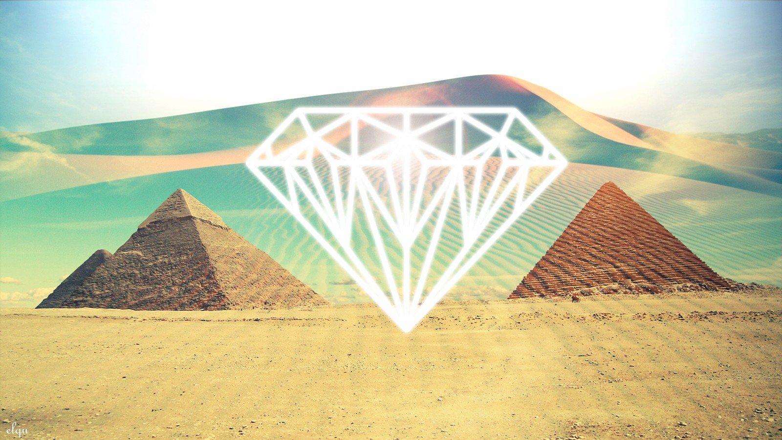 deserts artwork diamonds pyramids diamond wallpaper background 1600x900