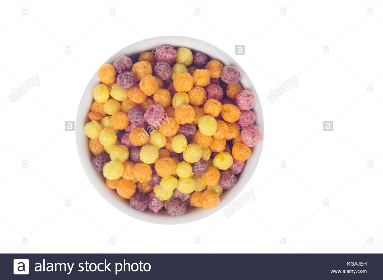 Bowl of Trix cereal by General Mills from above birds eye view on 1300x951