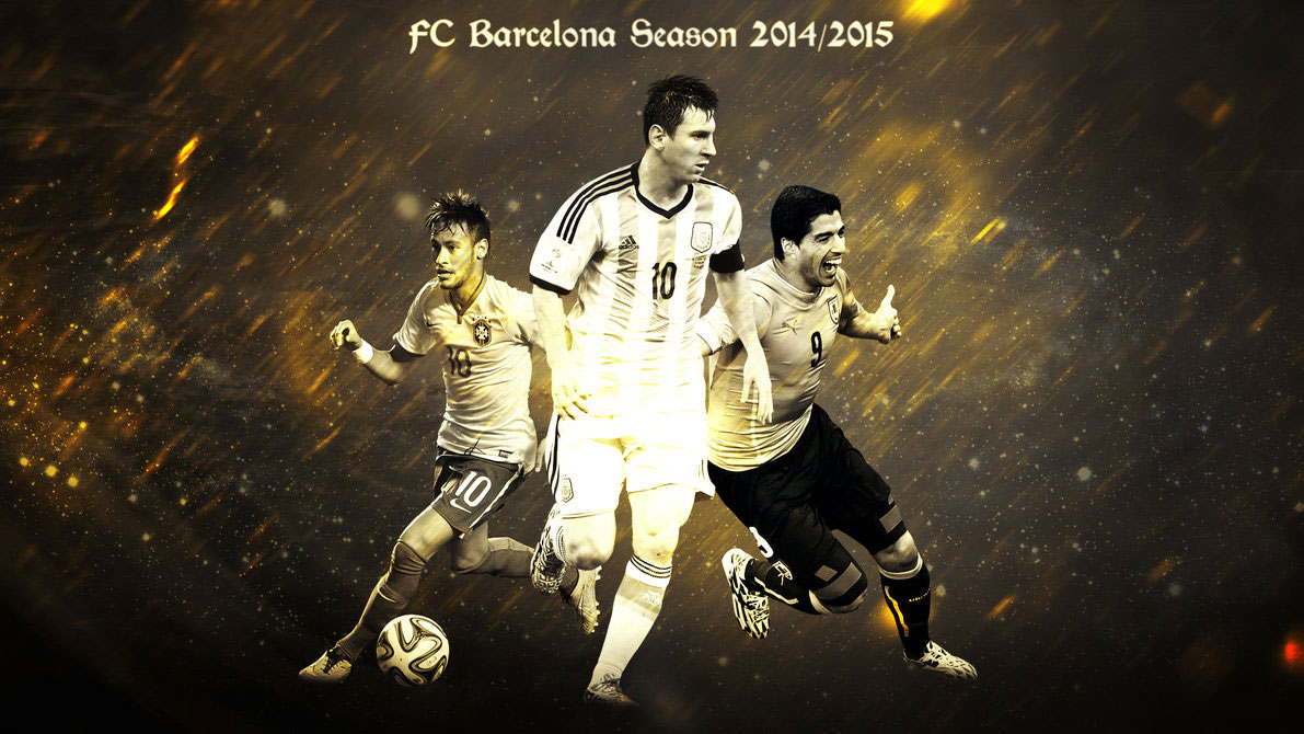 FC Barcelona wallpaper   Neymar Messi and Luis Surez 1191x670