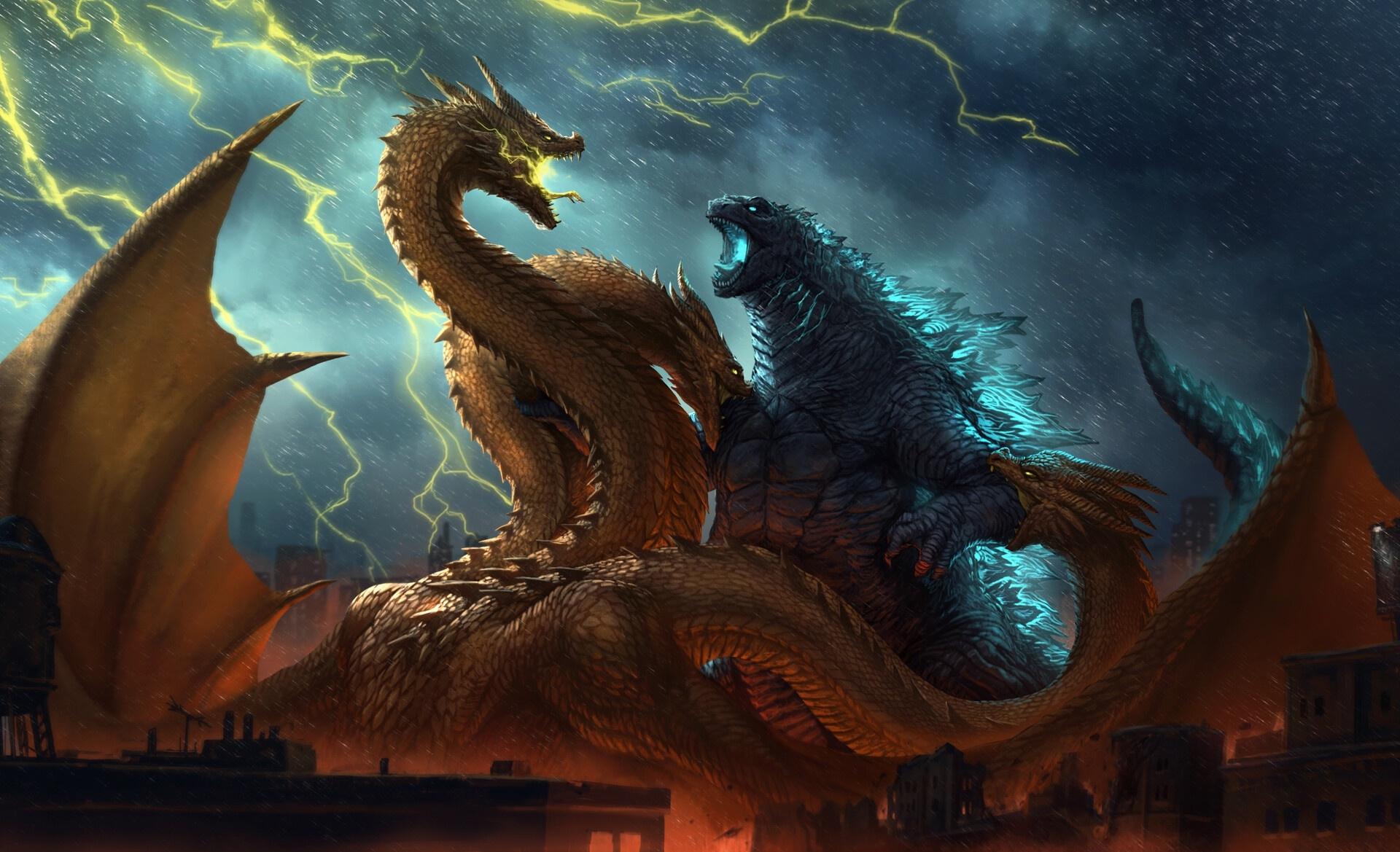 Godzilla vs King Ghidorah King of the Monsters Wallpaper HD 1920x1169