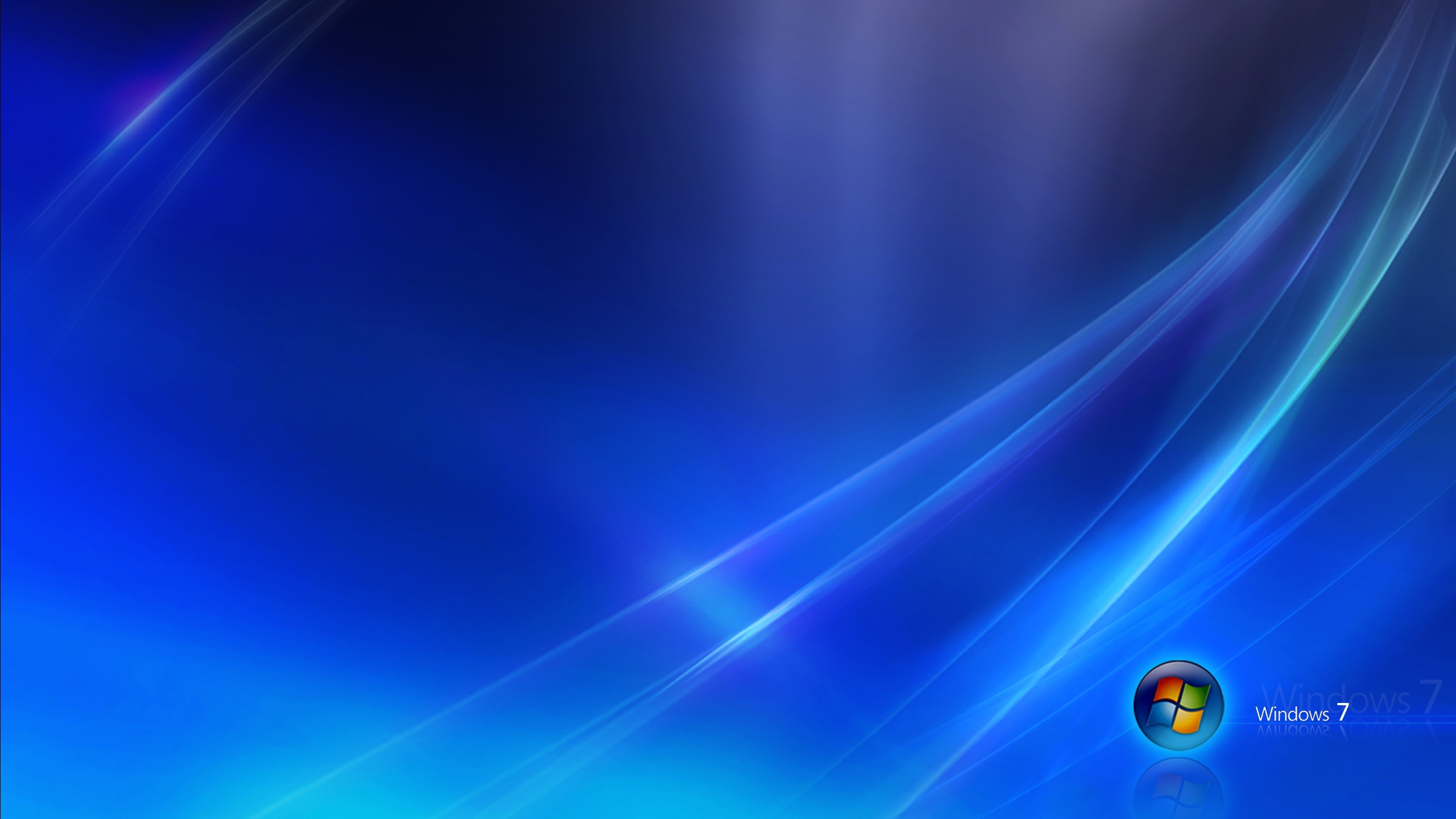 2560x1440 Windows 7 blue desktop PC and Mac wallpaper 2560x1440