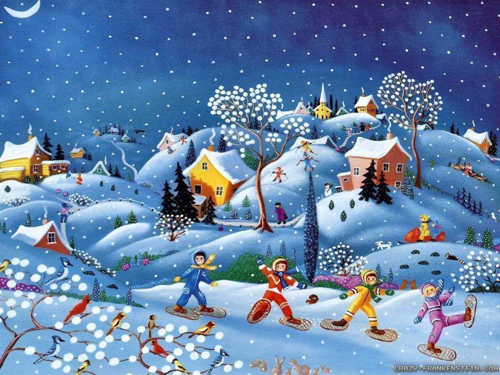 Winter Christmas Wallpapers 1024x768