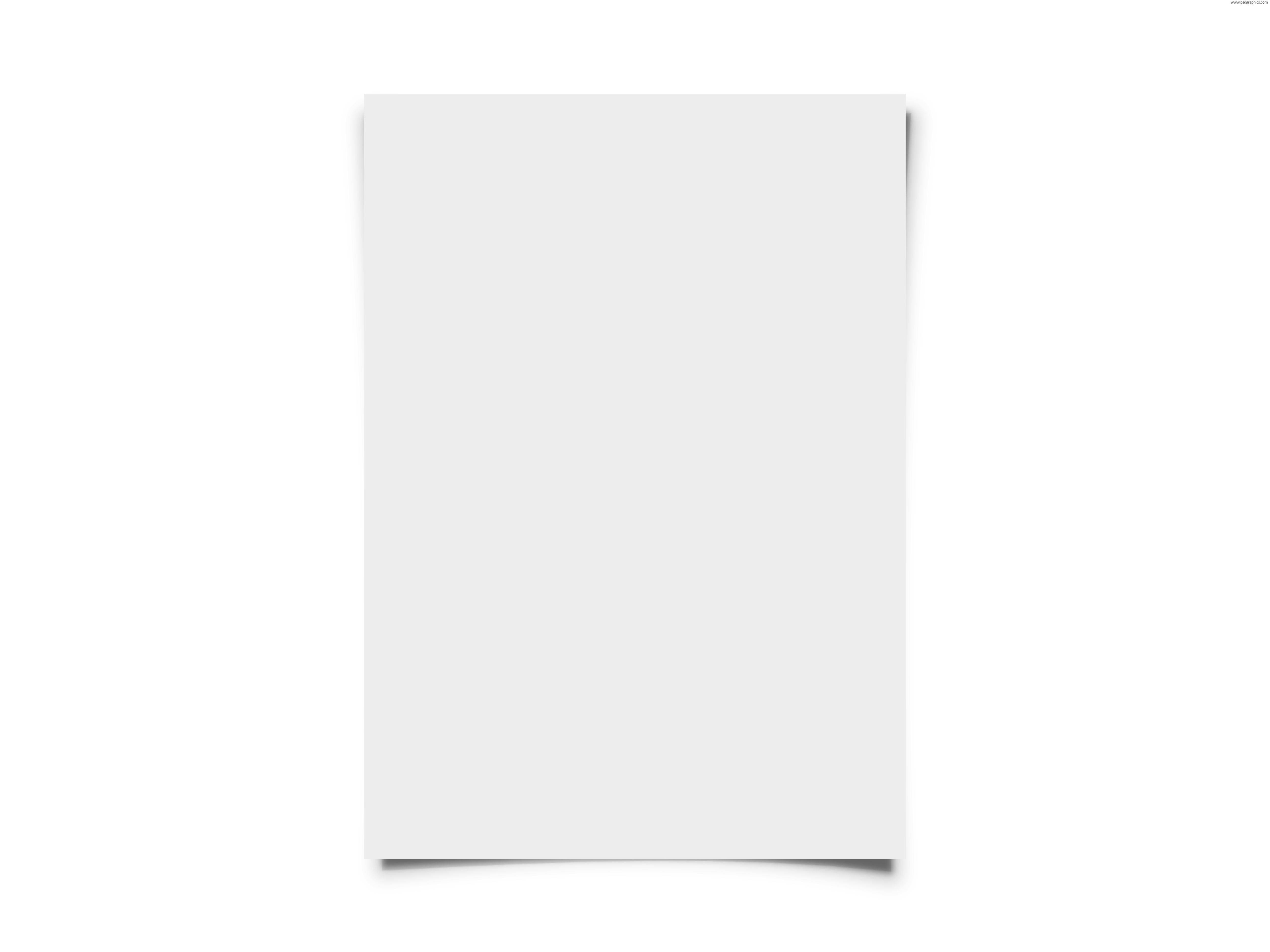 Blank white paper PSDGraphics 5000x3750