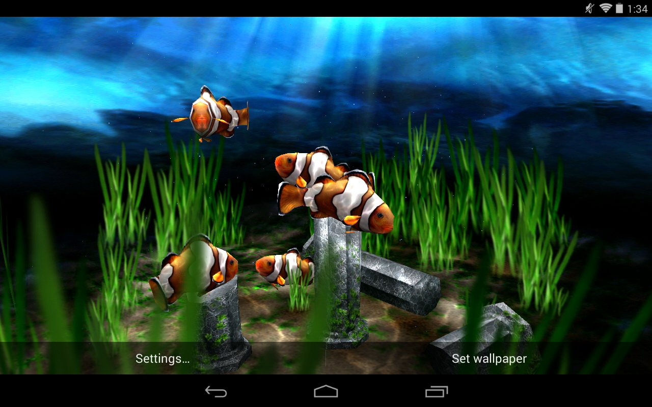 Best 3d Wallpaper For Android: Free Live Moving Fish Wallpaper