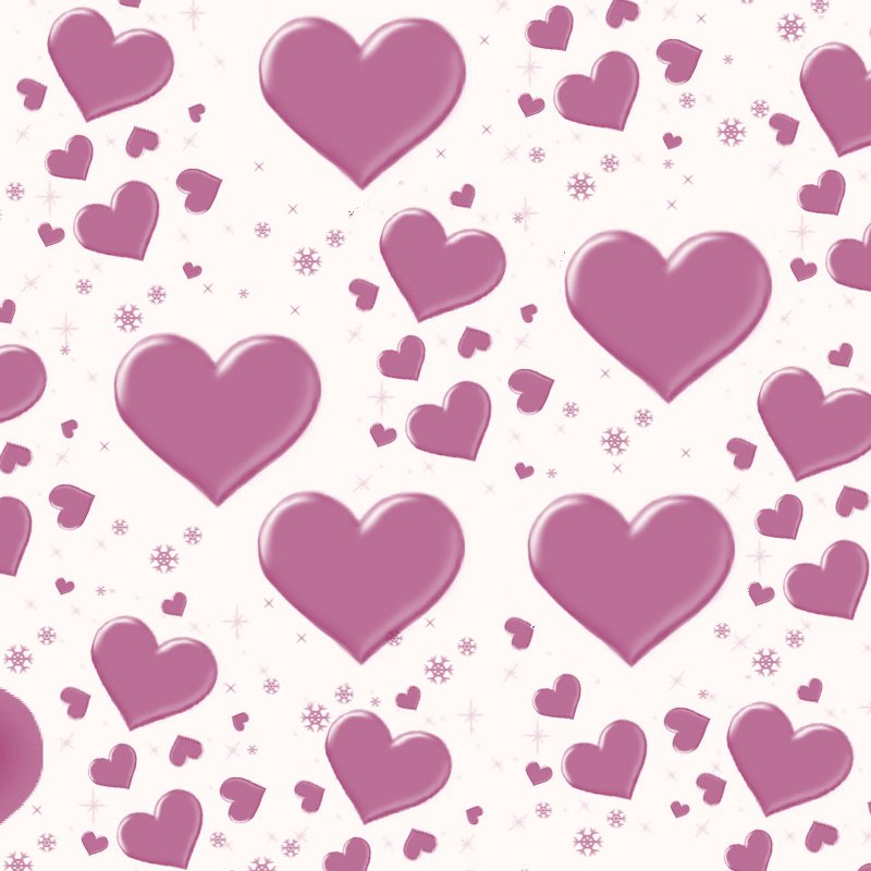 Cute Hearts Background - WallpaperSafari