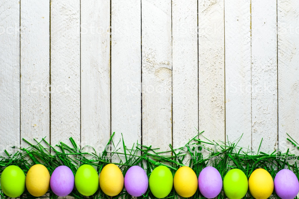 Colorful Eggs Easter Background Spring Festive Decoration Stock 1024x683