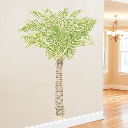 View Full Catalog Tatouage Tropical Murals Accents Palm Tree 525x525