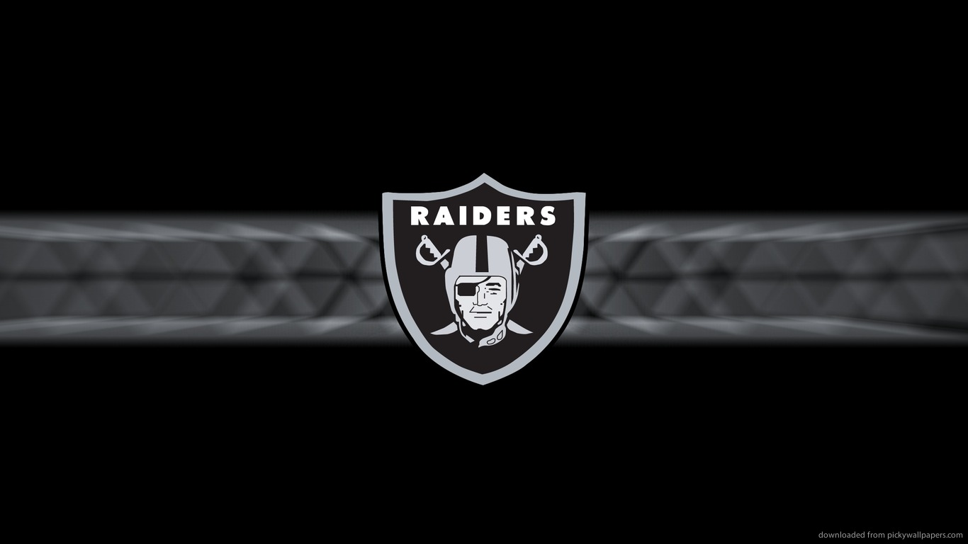 Download 1366x768 Oakland Raiders Logo Wallpaper 1366x768