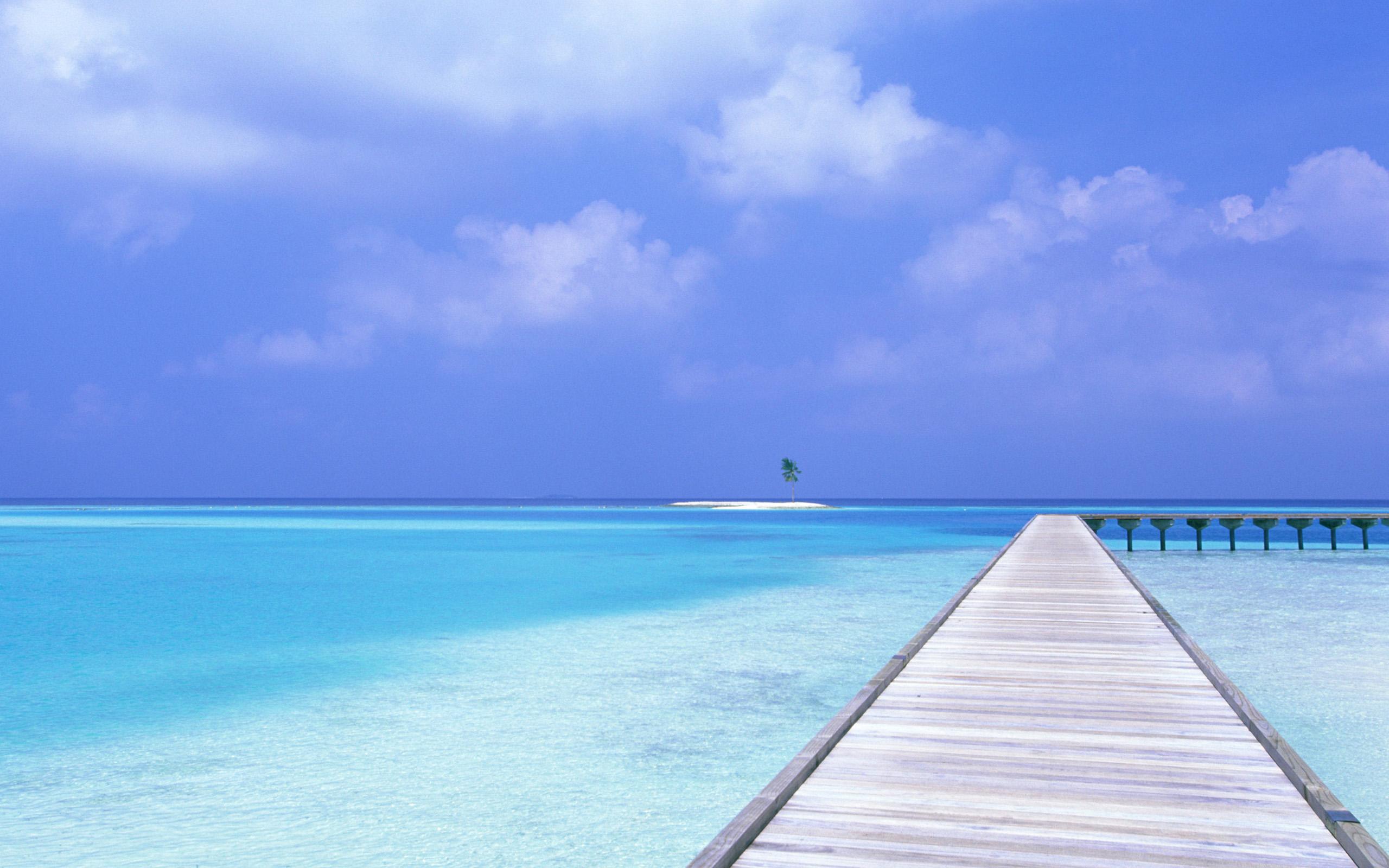 Beach Blue Sky Wallpapers HD Wallpapers 2560x1600