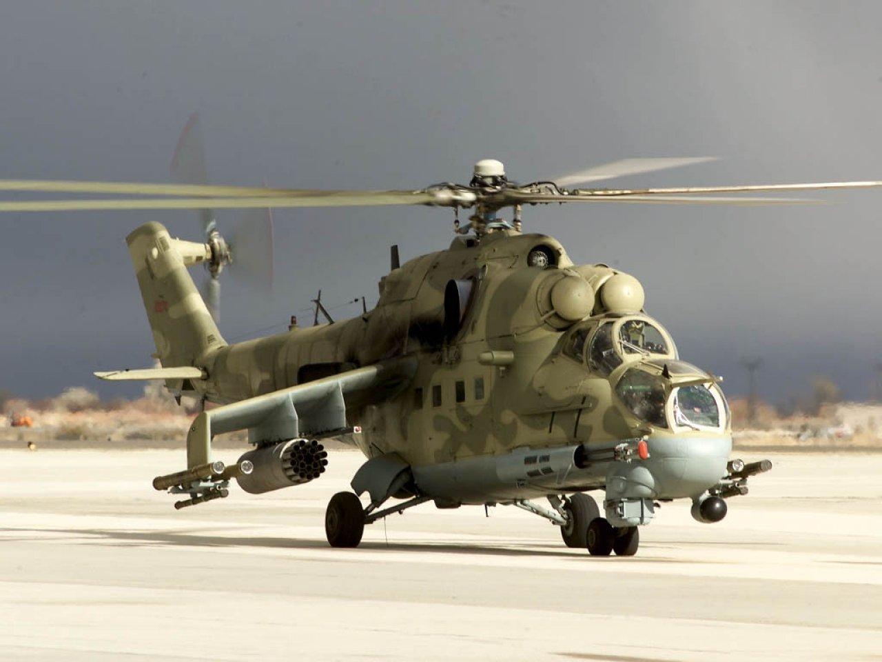 attack helicopter Russian aviation computer desktop wallpaper 1280x960