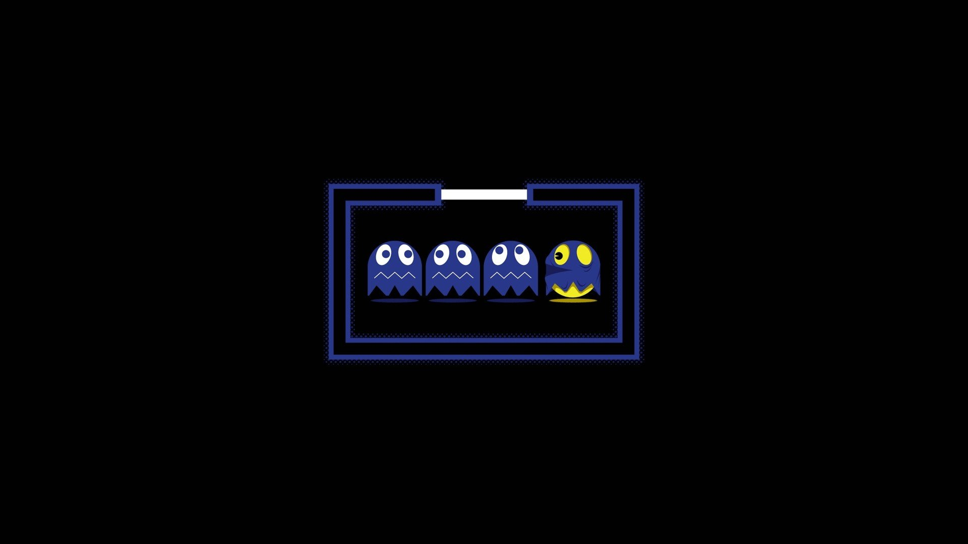 abstract video games ghosts solid Pac Man simplistic simple wallpaper 1920x1080