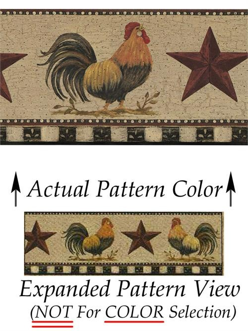 Rooster And Hen Wall Border for Pinterest 500x667