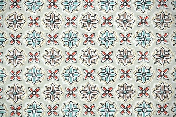 1940s Vintage Wallpaper   Geometric Wallpaper with Aqua Blue Red 570x380