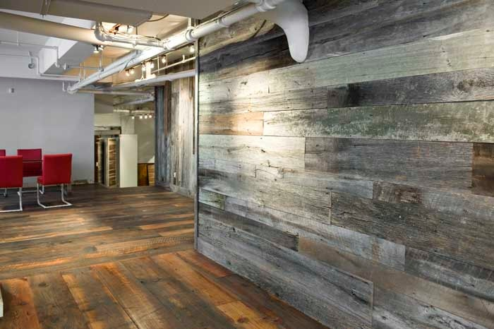 Reclaimed Wood Wall Floor Coverings 1650 via Etsy 700x466