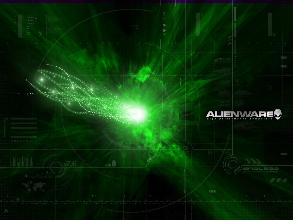1024x768 Alienware green desktop PC and Mac wallpaper 1024x768