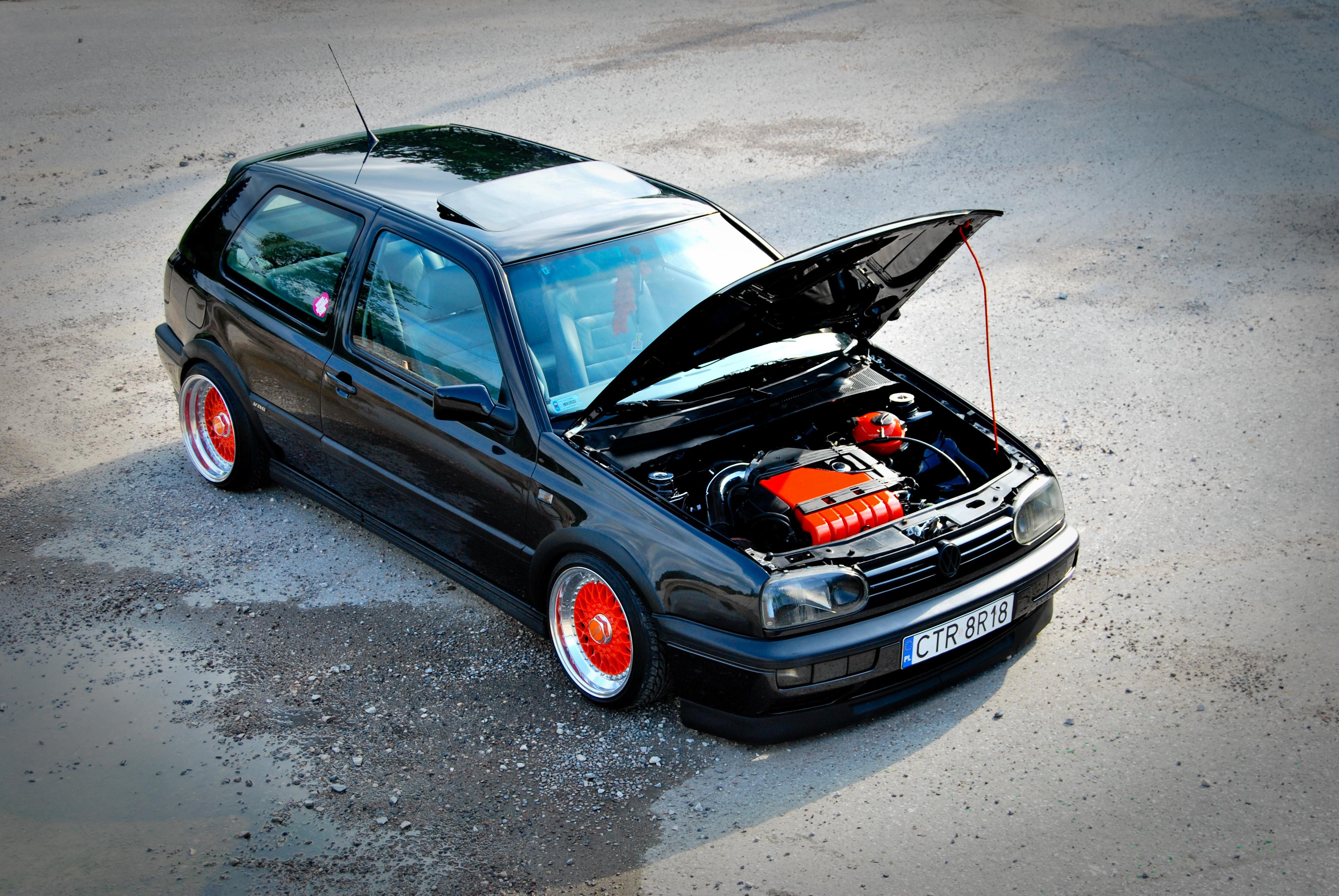 cars Poland Volkswagen black cars VDub german cars 3872x2592