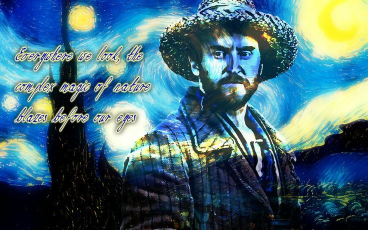 Vincent Van Gogh Starry Night Doctor Who Talk Nerdy   Fan Art 736x460