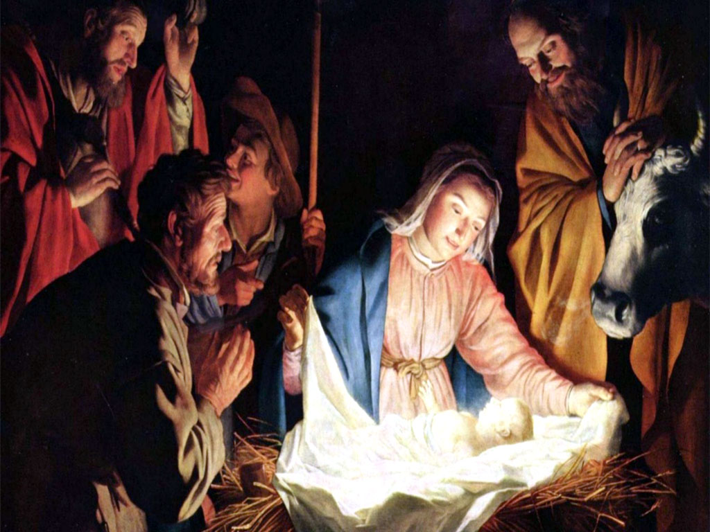 baby jesus christmas wallpaper