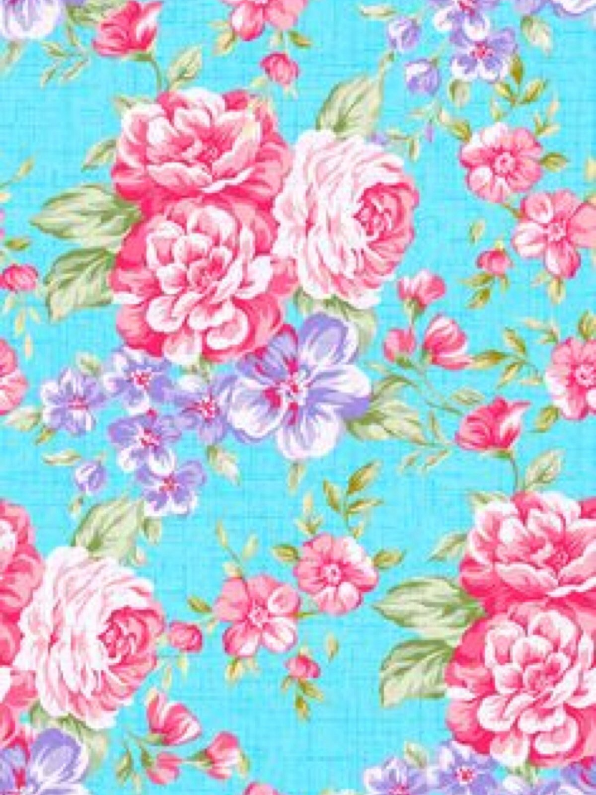 Free Download Blue And Pink Flower Wallpaper Romantic Background