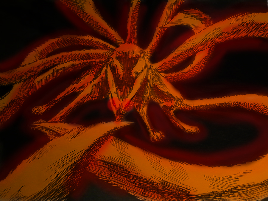 Naruto Uzumaki Nine Tailed Fox Nine Tailed Fox Demon 900x675