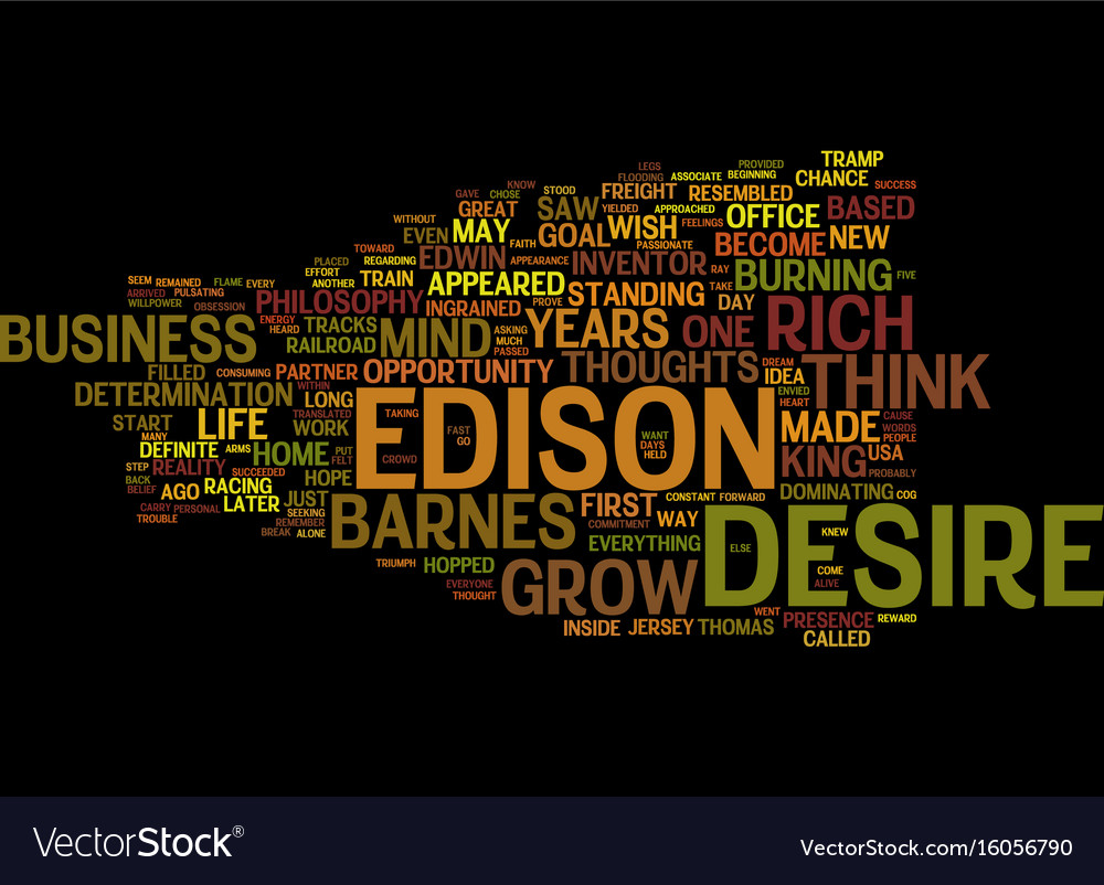 The desire to think and grow rich text background Vector Image 1000x802