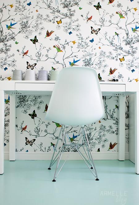 Schumacher Birds and Butterflies Wallpaper 450x663