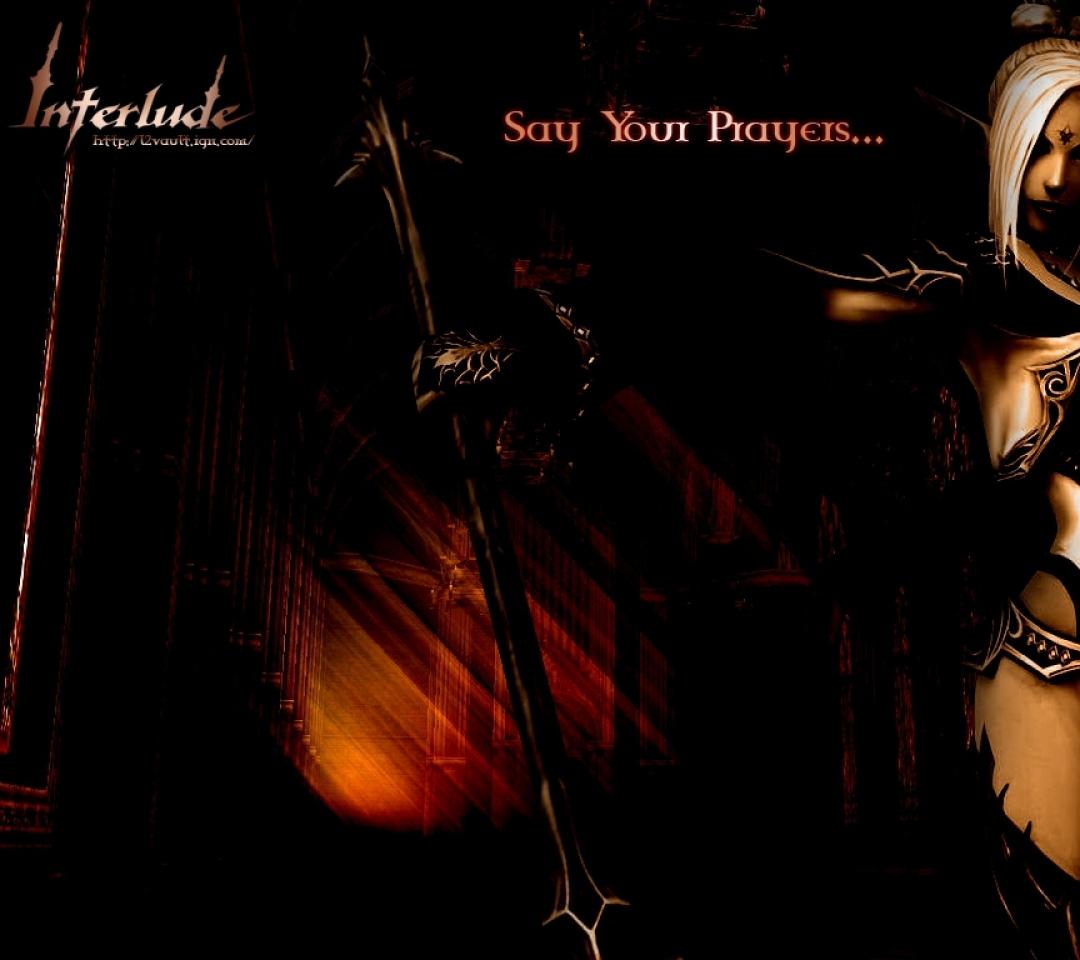 dark elf Say Your Prayers Wallpaper Wallpapers Download 1080x960