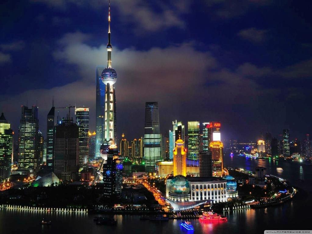 sportstars Shanghai Skyline HD Wallpapers 1024x768