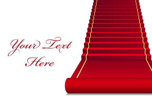 Celebration red carpet background vector 01 Vector background 500x331