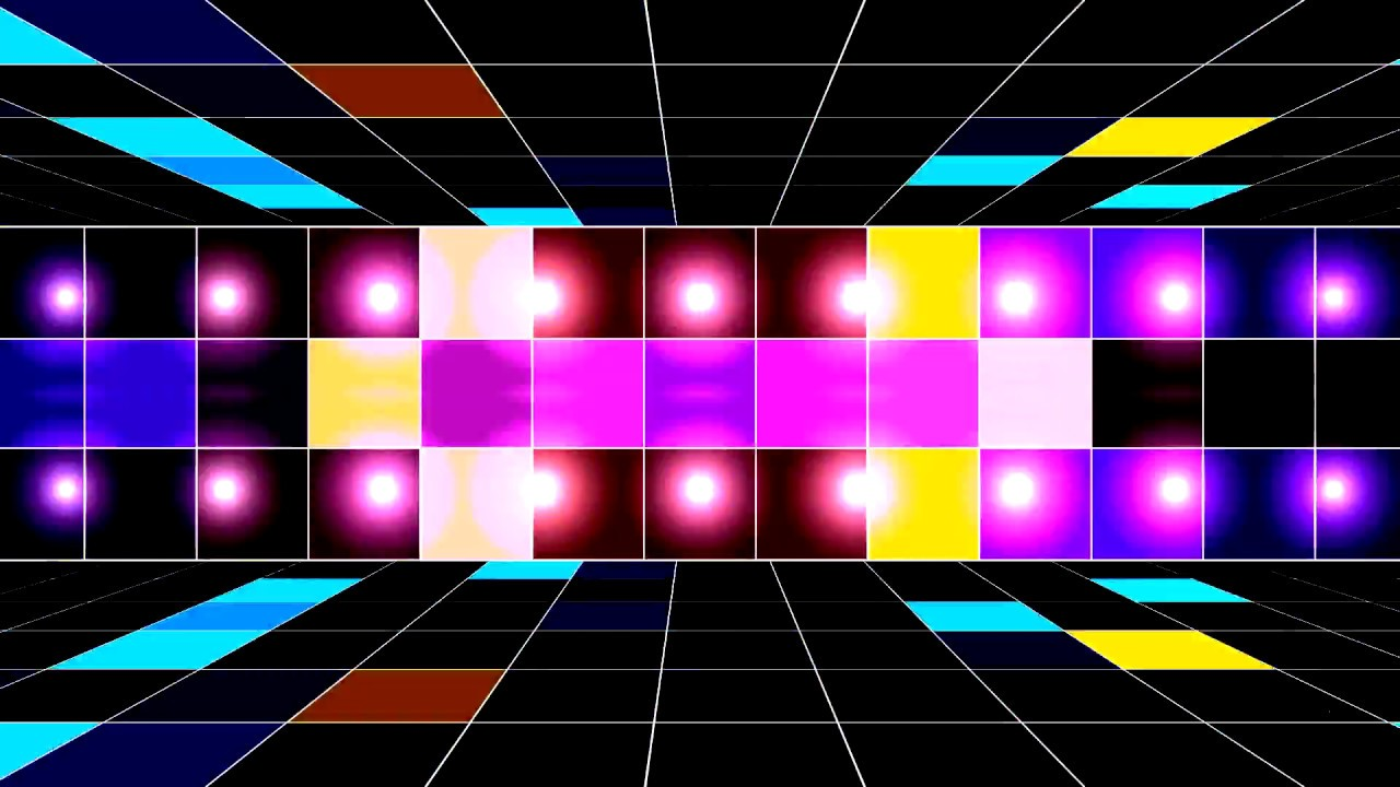 DanceFloor Video Background Party Lights HD 1280x720