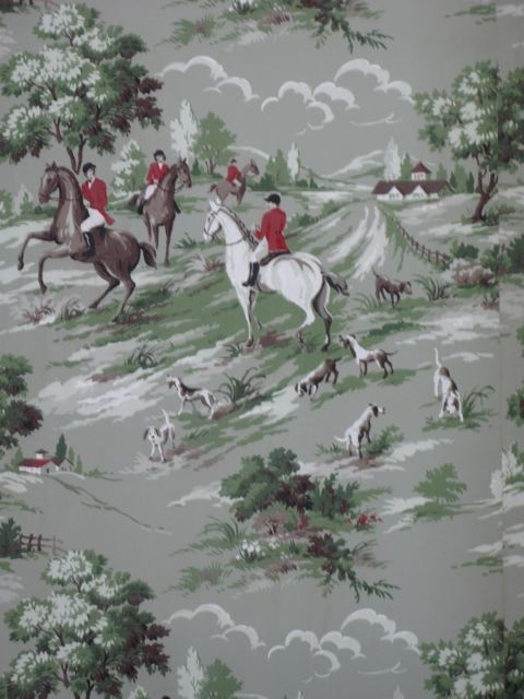 40s Fox Hunt Wallpaper For The Home Pinterest 480x640