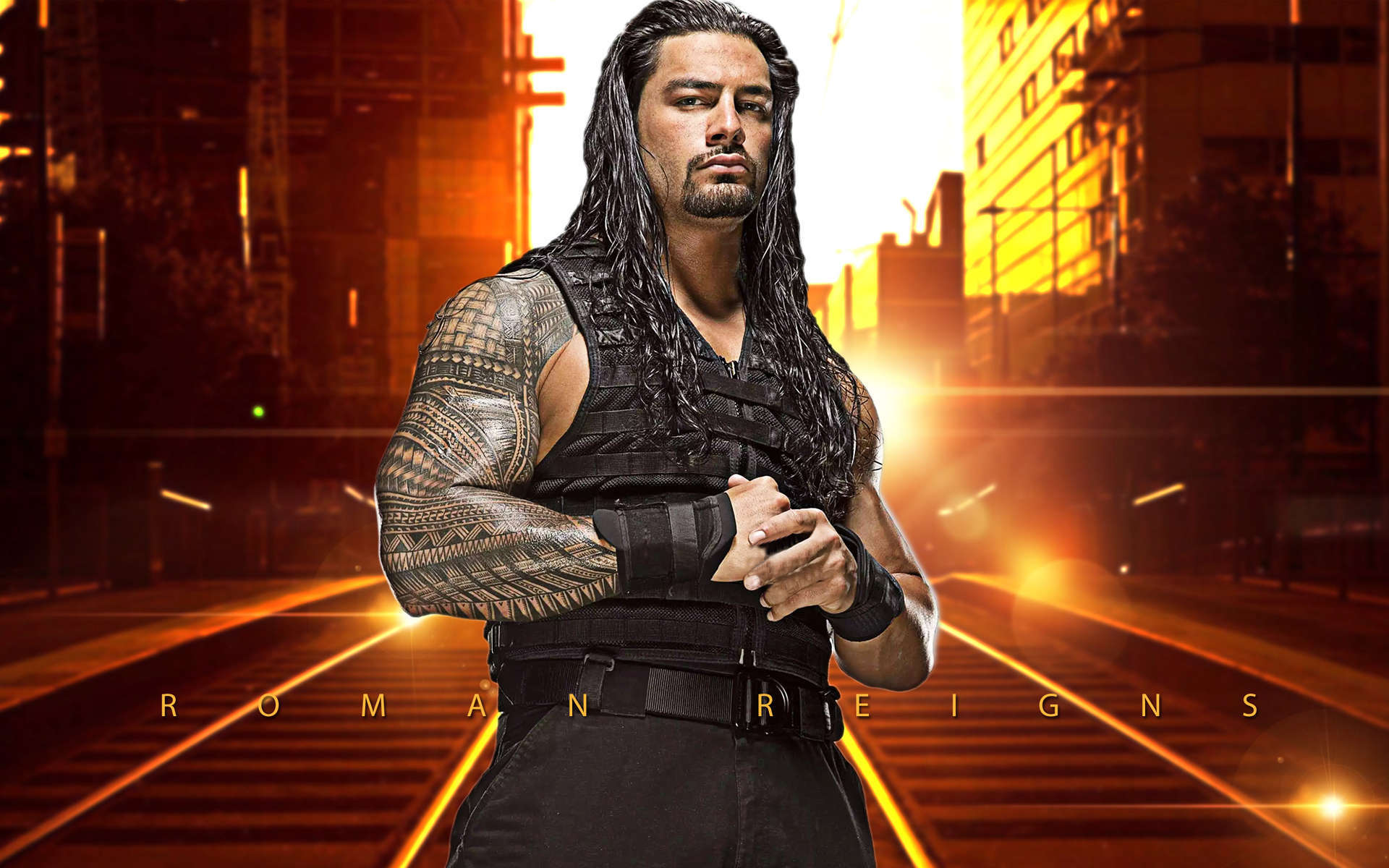 WWE Superstar Roman Reigns official profile featuring bio exclusive videos photos career highlights and more!