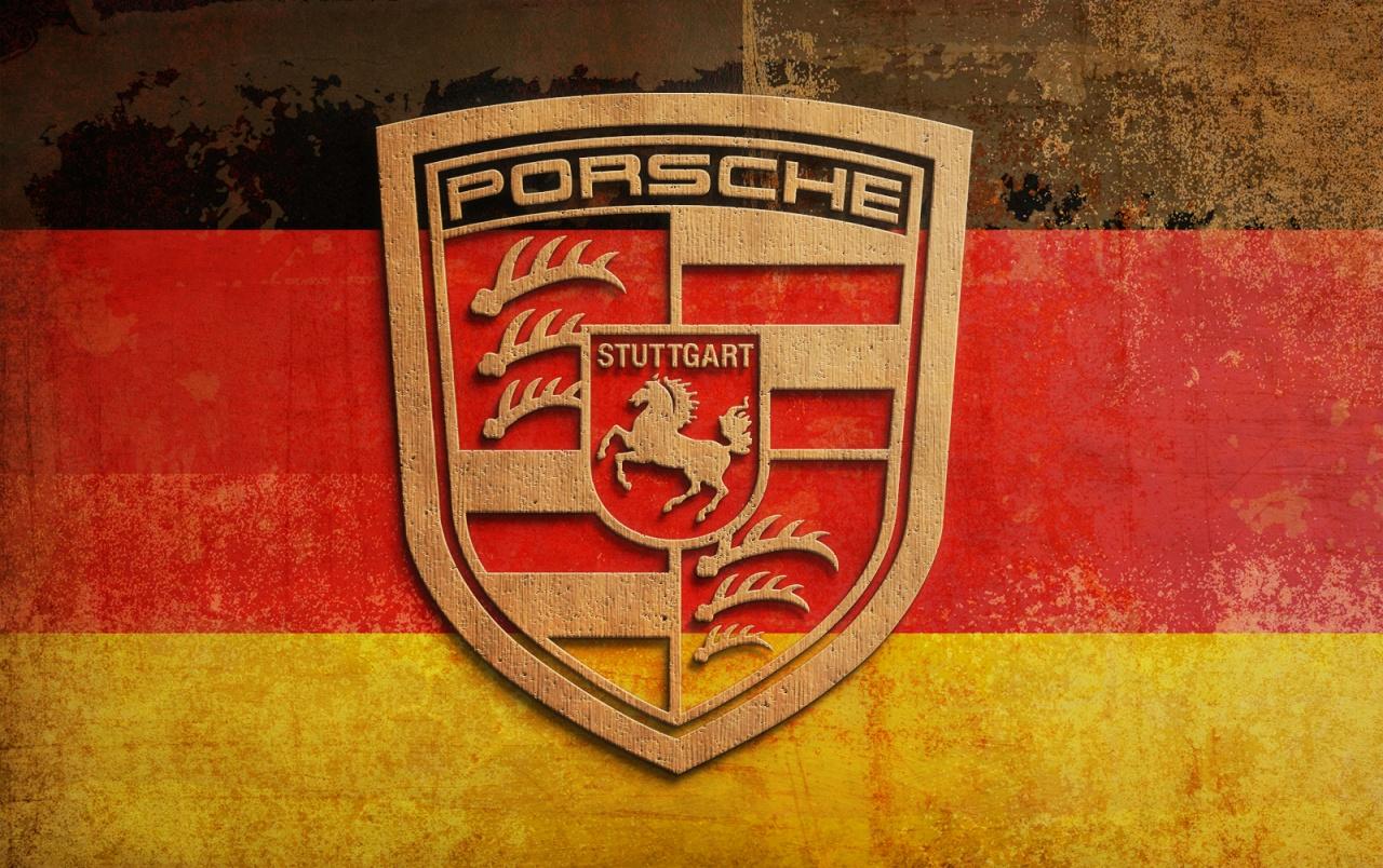 Plywood Porsche Logo wallpapers Plywood Porsche Logo 1280x804