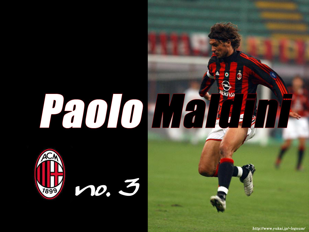 Maldini Number 3   Paolo Maldini Wallpaper 1306379 1024x768
