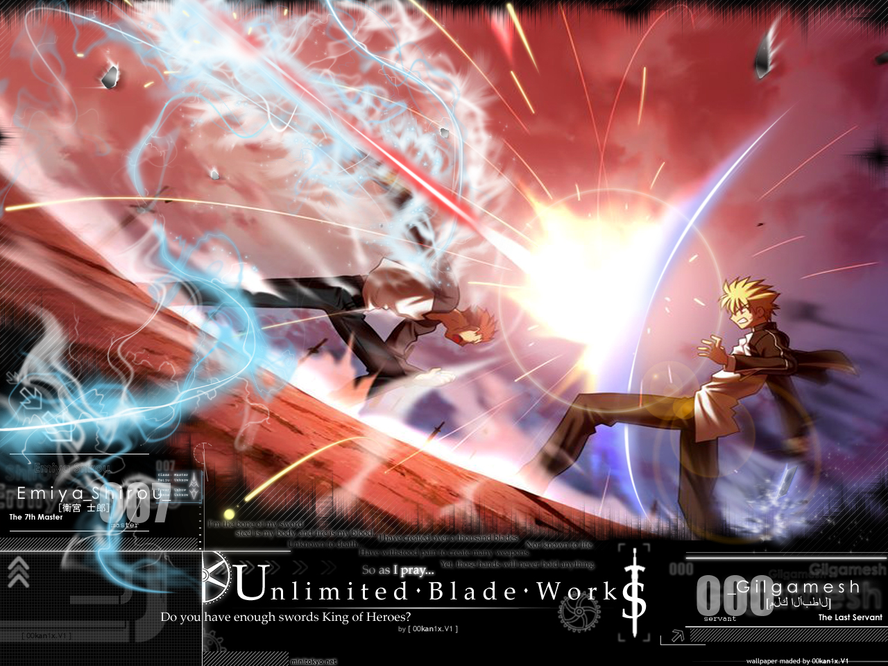Night Unlimited Blade Works Computer Wallpapers Desktop Backgrounds 1280x960