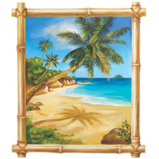 beach scene wallpaper border 525x525