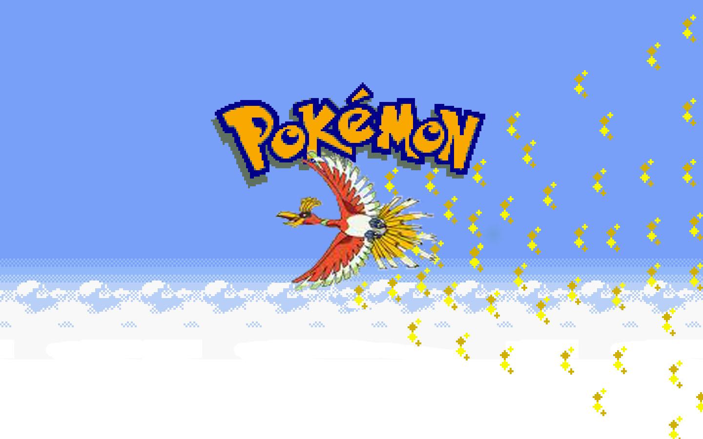 pokemon gold pixels ho oh HD Wallpaper   Anime Manga 716052 1440x900