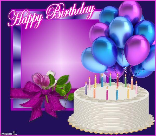 balloons purple background Happy Birthday Pinterest Happy 600x526