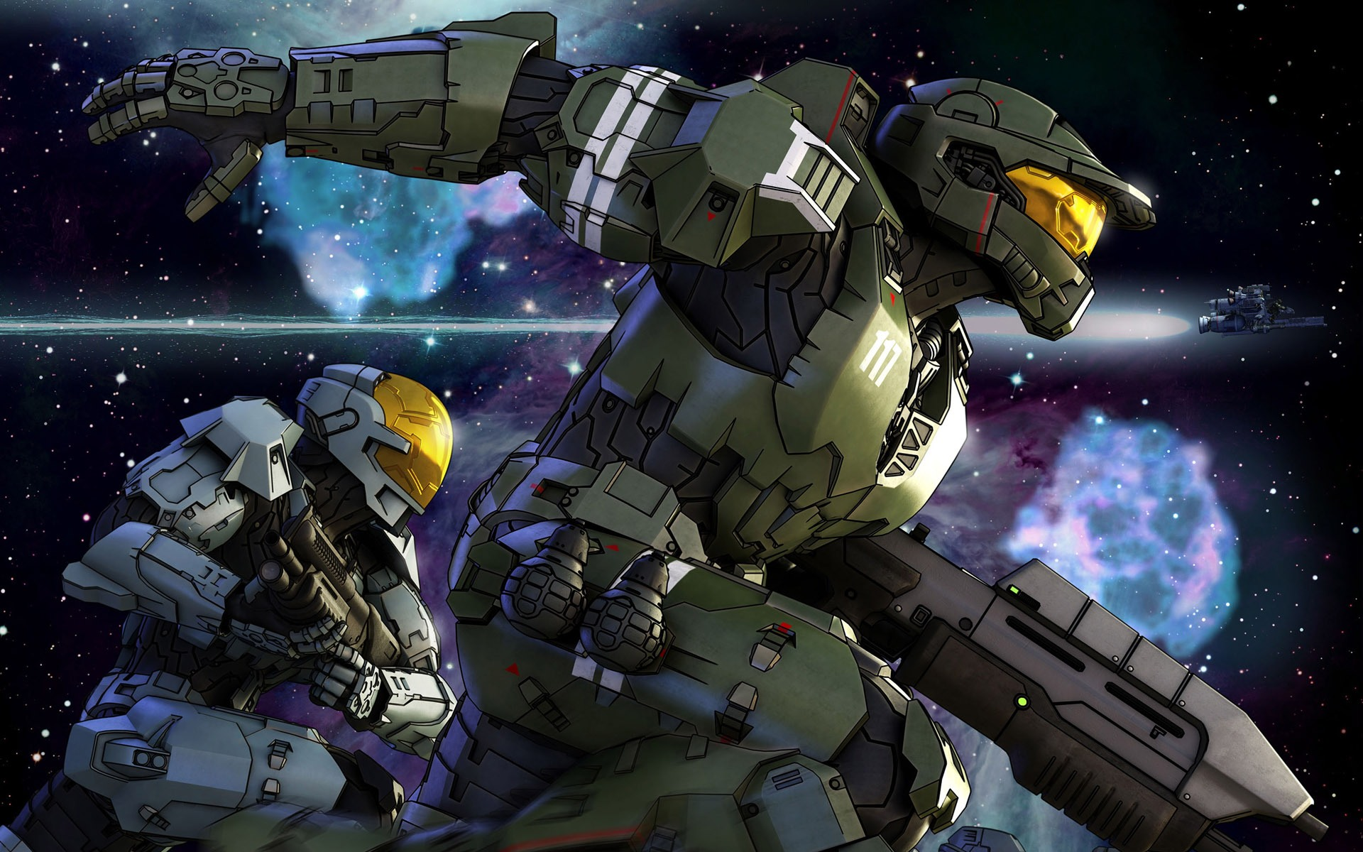 Halo Spartans desktop wallpaper 1920x1200