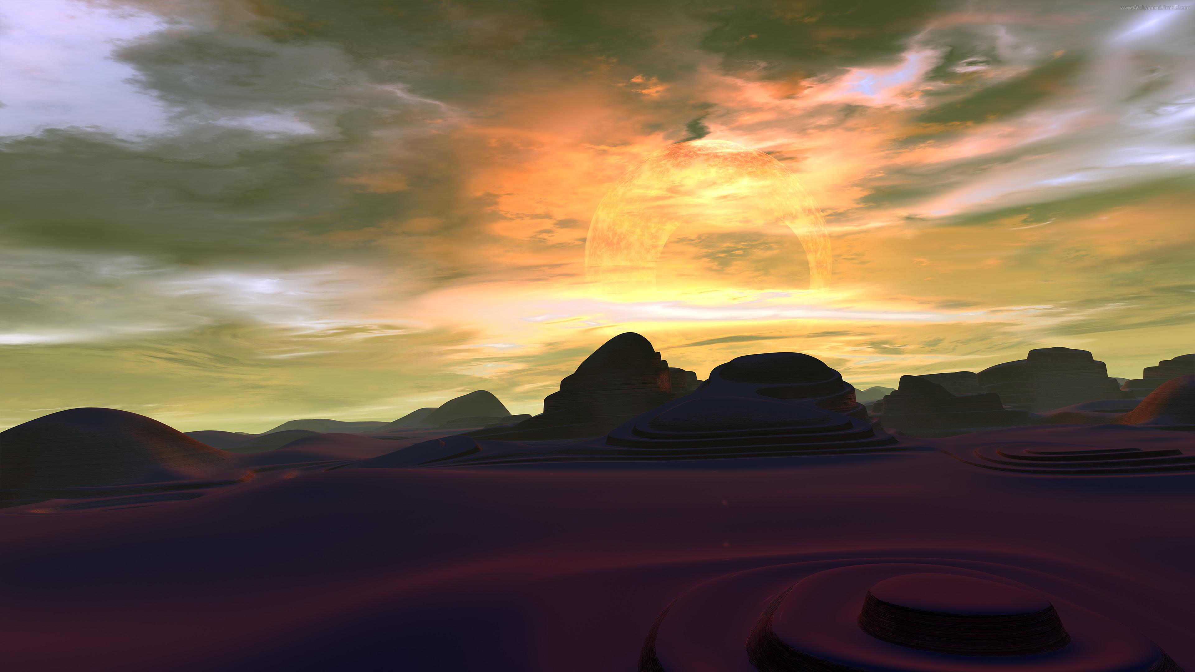 Scifi planet phobos 2K resolution 3840x2160