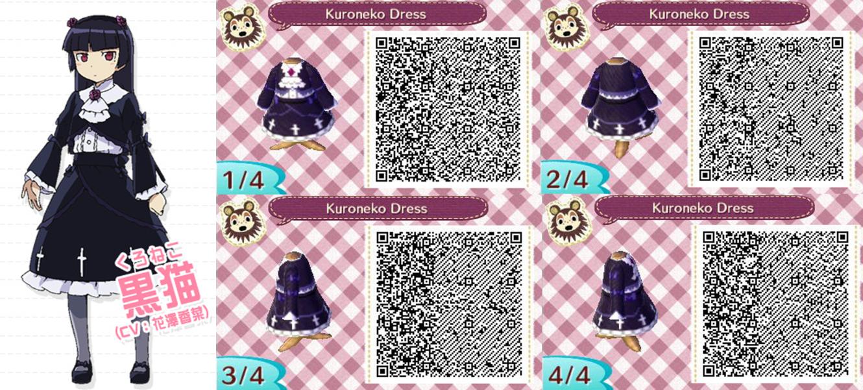 Free Download Download Acnl Ruri Gokou Kuroneko Dress Qr Code By