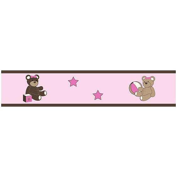 Teddy Bear Pink Wallpaper Border by Sweet Jojo Designs 563x563