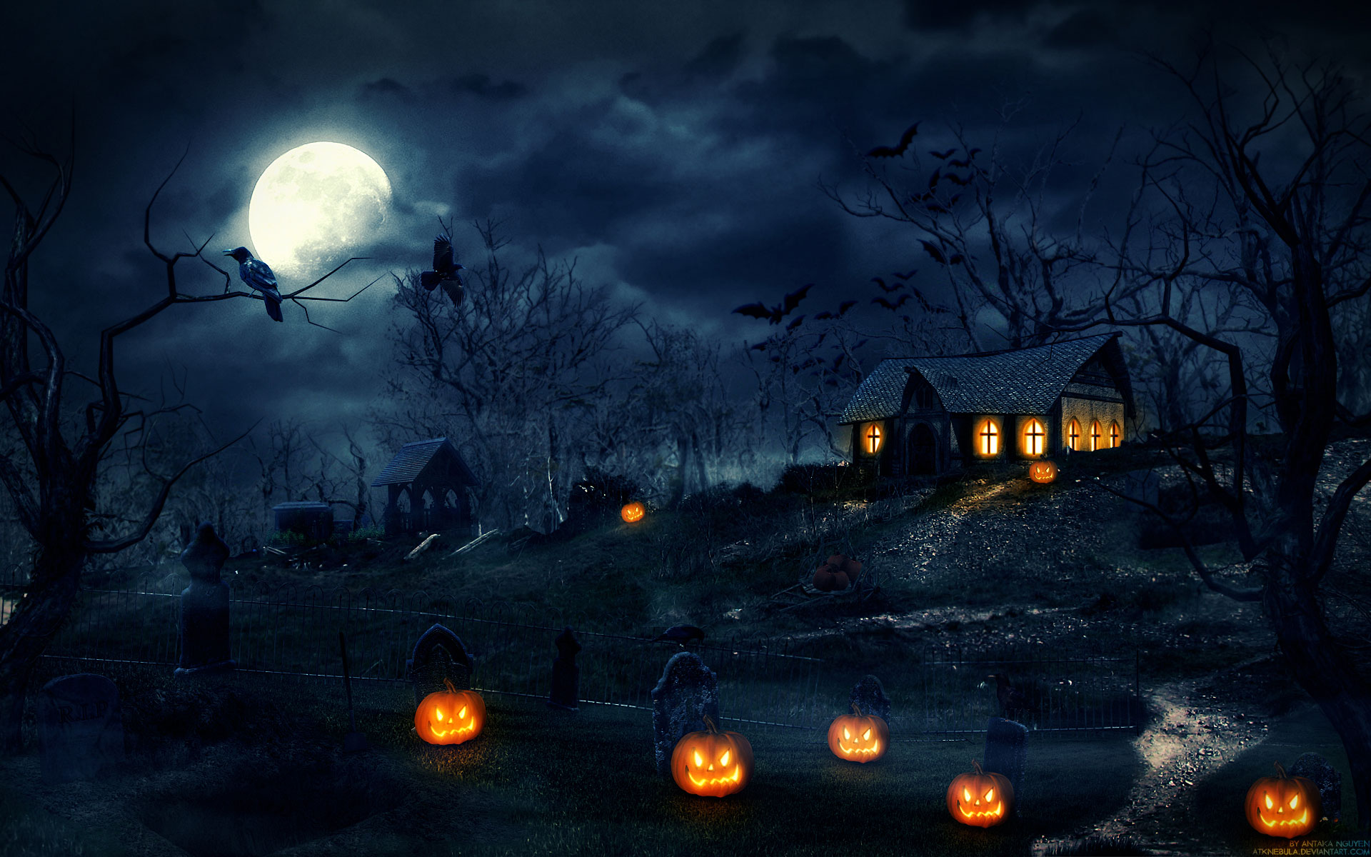 Scary Halloween Backgrounds Wallpaper Collection 2014 1920x1200